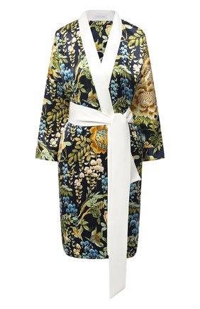 Женский шелковый халат OLIVIA VON HALLE разноцветного цвета, арт. PS2137   Фото 1