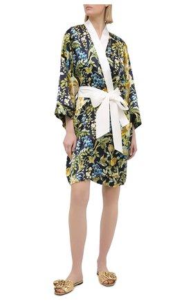 Женский шелковый халат OLIVIA VON HALLE разноцветного цвета, арт. PS2137   Фото 2