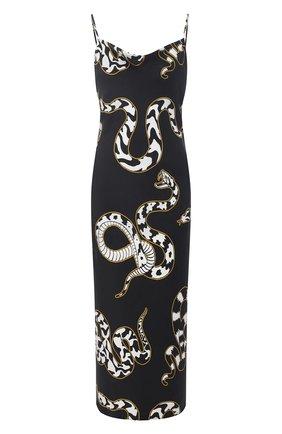 Женская шелковая сорочка OLIVIA VON HALLE черно-белого цвета, арт. PS2155 | Фото 1