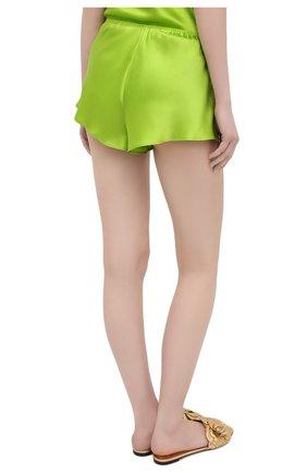 Женская шелковая пижама OLIVIA VON HALLE зеленого цвета, арт. SS2021 | Фото 5 (Материал внешний: Шелк; Длина Ж (юбки, платья, шорты): Мини; Длина (для топов): Стандартные)