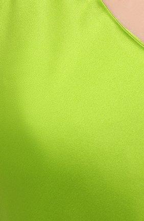Женская шелковая пижама OLIVIA VON HALLE зеленого цвета, арт. SS2021 | Фото 6 (Материал внешний: Шелк; Длина Ж (юбки, платья, шорты): Мини; Длина (для топов): Стандартные)