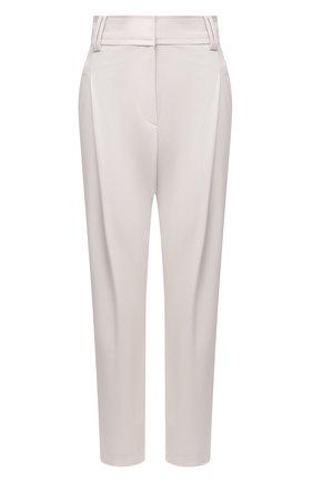 Женские шерстяные брюки BRUNELLO CUCINELLI светло-бежевого цвета, арт. MB526P7381 | Фото 1