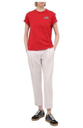 Женские шерстяные брюки BRUNELLO CUCINELLI светло-бежевого цвета, арт. MB526P7381 | Фото 2