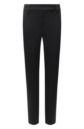 Женские хлопковые брюки BRUNELLO CUCINELLI черного цвета, арт. MA126P7258 | Фото 1
