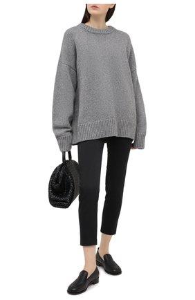 Женские хлопковые брюки BRUNELLO CUCINELLI черного цвета, арт. MA126P7258 | Фото 2