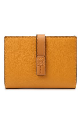 Женские кожаный кошелек LOEWE оранжевого цвета, арт. 124.12.S87   Фото 1