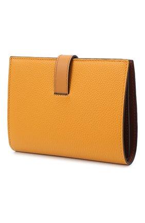 Женские кожаный кошелек LOEWE оранжевого цвета, арт. 124.12.S87   Фото 2