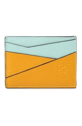 Женский кожаный футляр для кредитных карт LOEWE желтого цвета, арт. C643V33X02   Фото 1