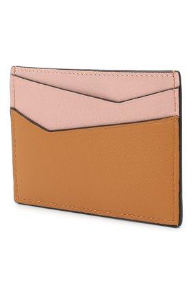 Женский кожаный футляр для кредитных карт LOEWE желтого цвета, арт. C643V33X02   Фото 2