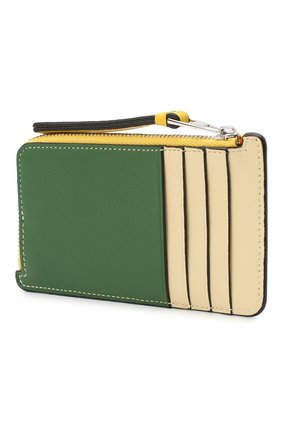 Женский кожаный футляр для кредитных карт LOEWE зеленого цвета, арт. C643Z40X05   Фото 2