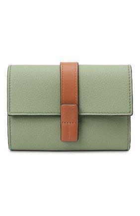 Женские кожаный кошелек LOEWE светло-зеленого цвета, арт. C660S86X01   Фото 1