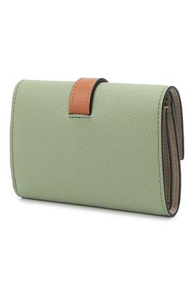 Женские кожаный кошелек LOEWE светло-зеленого цвета, арт. C660S86X01   Фото 2