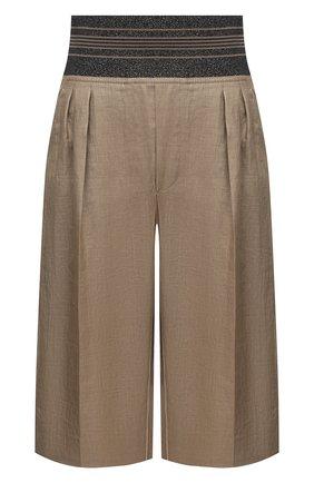 Женские шорты BRUNELLO CUCINELLI коричневого цвета, арт. MH135P7649 | Фото 1