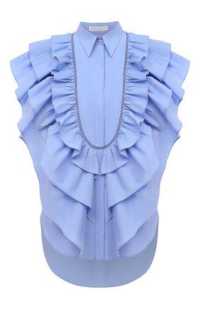 Женская хлопковая блузка BRUNELLO CUCINELLI голубого цвета, арт. MF799NJ705 | Фото 1