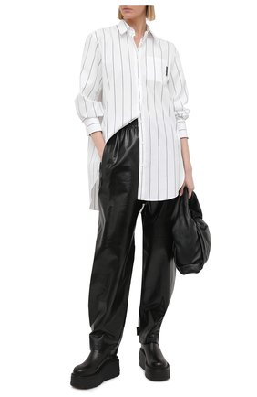Женская рубашка из хлопка и шелка BRUNELLO CUCINELLI белого цвета, арт. MF794MF146 | Фото 2