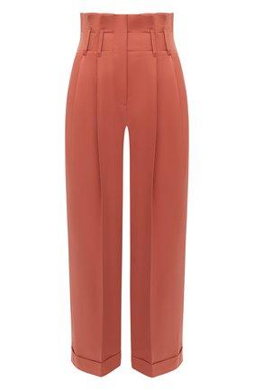 Женские хлопковые брюки BRUNELLO CUCINELLI оранжевого цвета, арт. MA130P7646 | Фото 1
