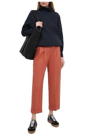 Женские хлопковые брюки BRUNELLO CUCINELLI оранжевого цвета, арт. MA130P7646 | Фото 2