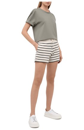 Женские шорты из шерсти и кашемира BRUNELLO CUCINELLI разноцветного цвета, арт. M16170389 | Фото 2