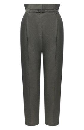 Женские хлопковые брюки BRUNELLO CUCINELLI хаки цвета, арт. M0F79P7461 | Фото 1