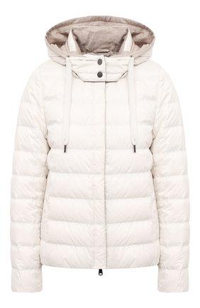 Женская пуховая куртка BRUNELLO CUCINELLI кремвого цвета, арт. MH5042138 | Фото 1