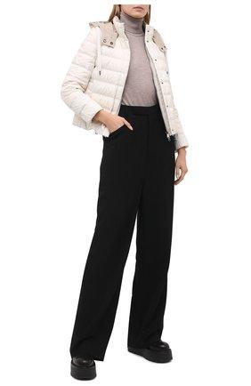 Женская пуховая куртка BRUNELLO CUCINELLI кремвого цвета, арт. MH5042138 | Фото 2
