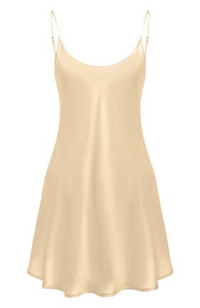 Женская шелковая сорочка LA PERLA бежевого цвета, арт. 0020291 | Фото 1