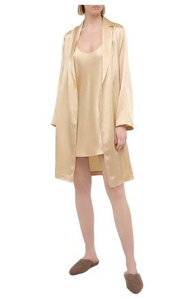 Женская шелковая сорочка LA PERLA бежевого цвета, арт. 0020291 | Фото 2