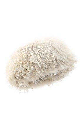 Женская шапка полина из меха енота и норки FURLAND бежевого цвета, арт. 0068111750006300000   Фото 1