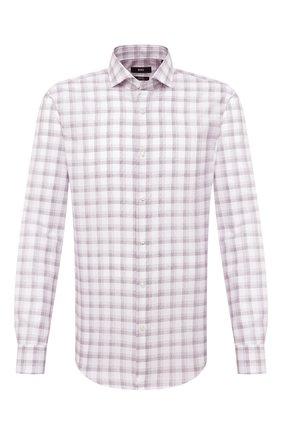 Мужская хлопковая сорочка BOSS разноцветного цвета, арт. 50445533 | Фото 1