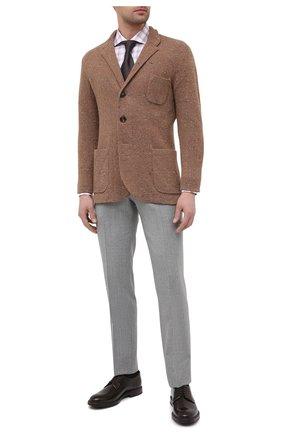 Мужская хлопковая сорочка BOSS разноцветного цвета, арт. 50445533 | Фото 2