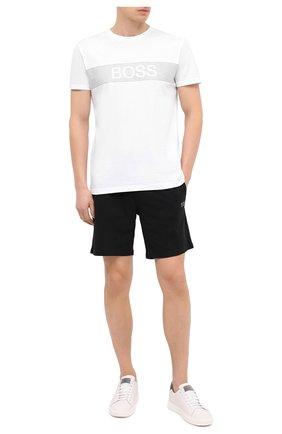 Мужская хлопковая футболка BOSS белого цвета, арт. 50442391   Фото 2