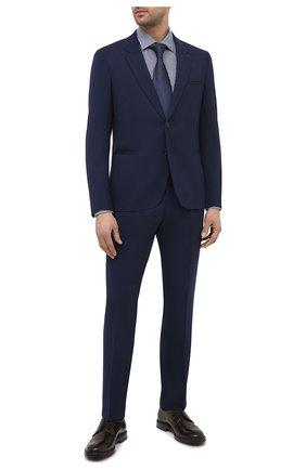 Мужская хлопковая сорочка HUGO темно-синего цвета, арт. 50443570 | Фото 2