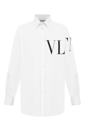 Мужская хлопковая рубашка VALENTINO белого цвета, арт. VV3ABA95MBK | Фото 1