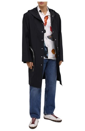 Мужские кожаные кеды superstar GOLDEN GOOSE DELUXE BRAND белого цвета, арт. GMF00101.F000580 | Фото 2 (Подошва: Плоская; Материал внутренний: Натуральная кожа)