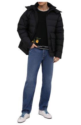 Мужские кожаные кеды ball star GOLDEN GOOSE DELUXE BRAND белого цвета, арт. GMF00117.F000635 | Фото 2 (Подошва: Массивная; Материал внутренний: Натуральная кожа)