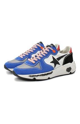 Мужские комбинированные кроссовки running sole GOLDEN GOOSE DELUXE BRAND синего цвета, арт. GMF00126.F000409 | Фото 1