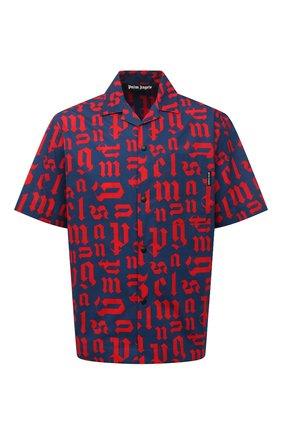 Мужская хлопковая рубашка PALM ANGELS разноцветного цвета, арт. PMGA037R21FAB0024625 | Фото 1