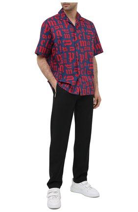 Мужская хлопковая рубашка PALM ANGELS разноцветного цвета, арт. PMGA037R21FAB0024625 | Фото 2
