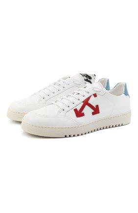 Мужские кожаные кеды 2.0 OFF-WHITE белого цвета, арт. 0MIA042R21LEA0020125 | Фото 1 (Подошва: Массивная; Материал внутренний: Текстиль)