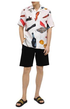 Мужские шлепанцы OFF-WHITE черного цвета, арт. 0MIC001R21MAT0021018 | Фото 2