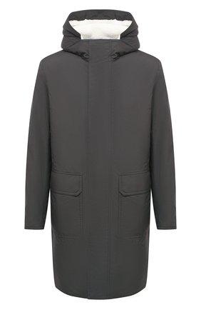 Мужская парка с меховой подкладкой ANDREA CAMPAGNA серого цвета, арт. 94502H90FA120 | Фото 1 (Стили: Кэжуэл; Материал утеплителя: Натуральный мех; Кросс-КТ: Куртка; Материал внешний: Синтетический материал; Рукава: Длинные; Длина (верхняя одежда): До колена)