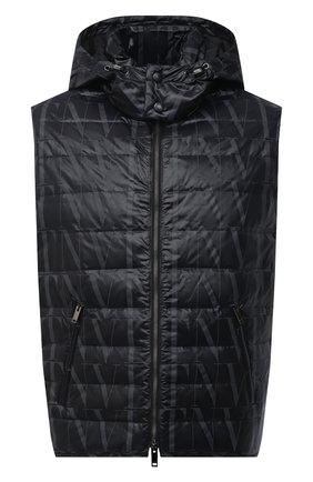 Мужской пуховый жилет VALENTINO черного цвета, арт. VV3CQA1070V | Фото 1
