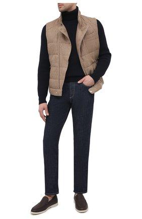 Мужской пуховый жилет BRUNELLO CUCINELLI светло-коричневого цвета, арт. MD4951283   Фото 2