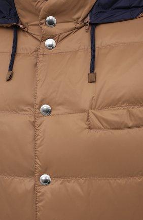 Мужской пуховый жилет BRUNELLO CUCINELLI коричневого цвета, арт. MR4051716 | Фото 5