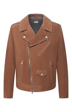 Мужская замшевая куртка BRUNELLO CUCINELLI коричневого цвета, арт. MPM0P1818 | Фото 1