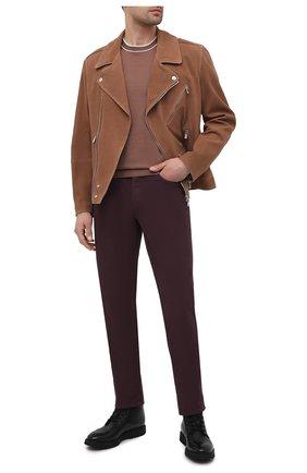 Мужская замшевая куртка BRUNELLO CUCINELLI коричневого цвета, арт. MPM0P1818   Фото 2