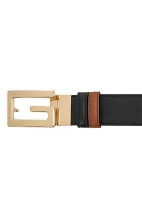 Мужской кожаный ремень GUCCI черного цвета, арт. 626974/AP0BG | Фото 3 (Случай: Повседневный)