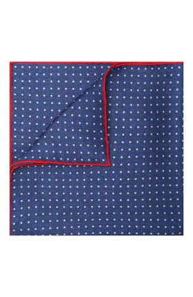 Мужской шелковый платок KITON синего цвета, арт. UP0CHCX07T03 | Фото 1