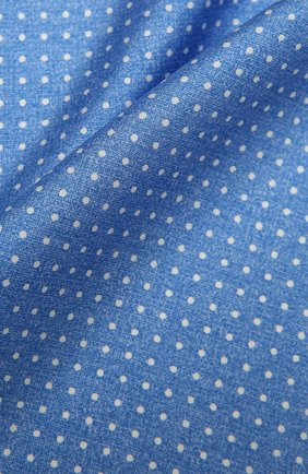 Мужской шелковый платок KITON синего цвета, арт. UP0CHCX07T03 | Фото 2