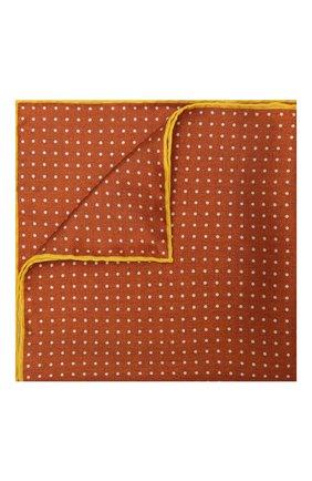 Мужской шелковый платок KITON оранжевого цвета, арт. UP0CHCX07T03 | Фото 1